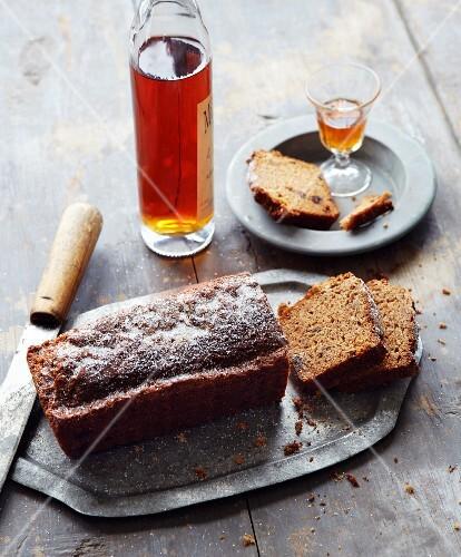 Swedish spiced cake, sliced