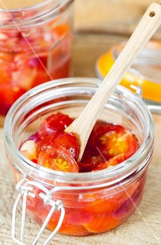 Cherry tomato and apple chutney