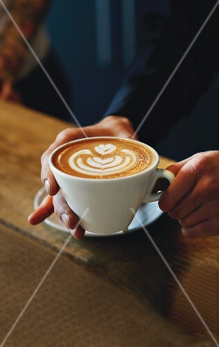 Cappuccino mit Milchmuster