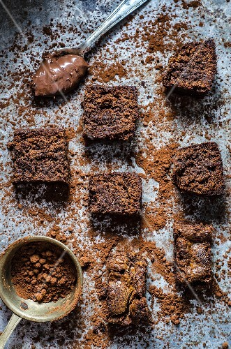 Chocolate spread brownies