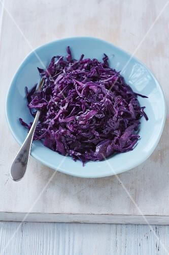 Red cabbage braised in red wine vinegar