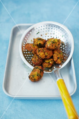 Indian panner croquettes with coriander