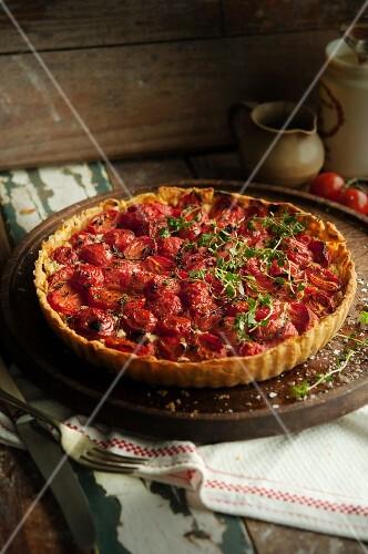 Tomato tart with thyme