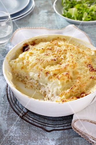 Parmentier with cod (France)