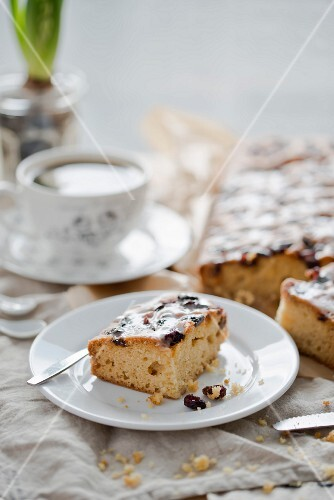 Yoghurt cake with dried fruit for Easter