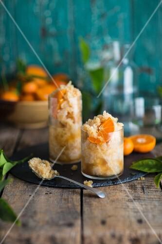 Cocktails with orange granita