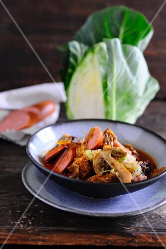 Bigos cabbage stew
