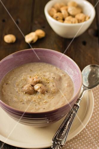 Autumnal chestnut soup
