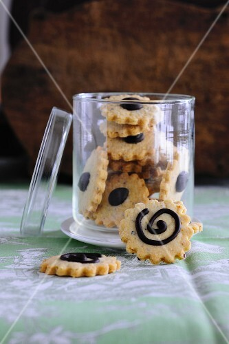 A jar of shortbread biscuits