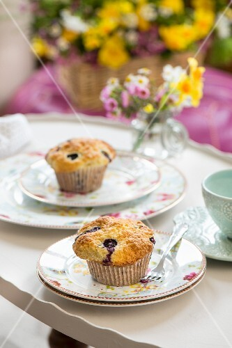 Blueberry muffins for a spring brunch