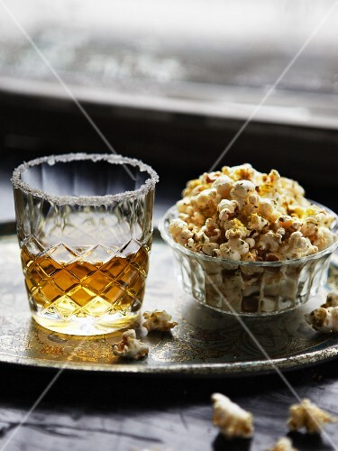 Apple punch with popcorn