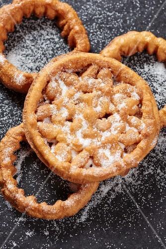 Bunuelos (deep-fried Spanish pastries) with sugar
