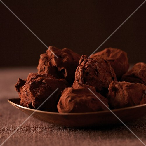 Chocolate truffles, close-up