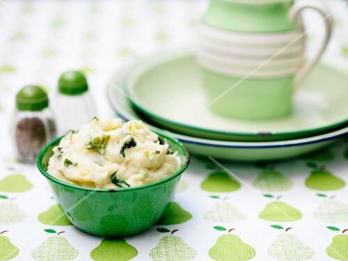 Colcannon, potato mash with cabbage, Ireland