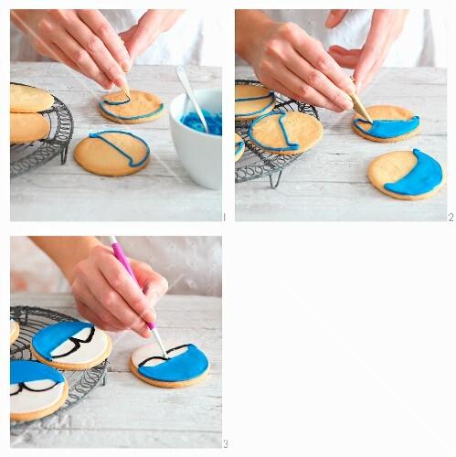Superhero cookies being made