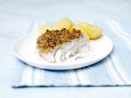 Cod with a crispy crust