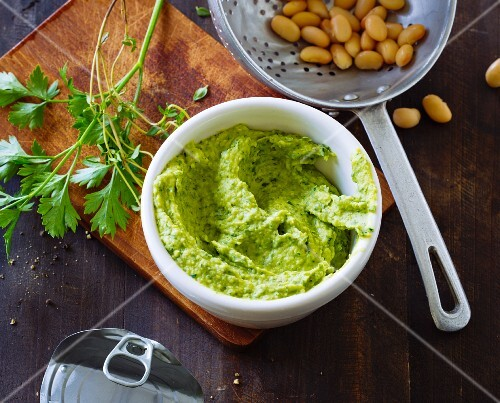 Bean and herb paste
