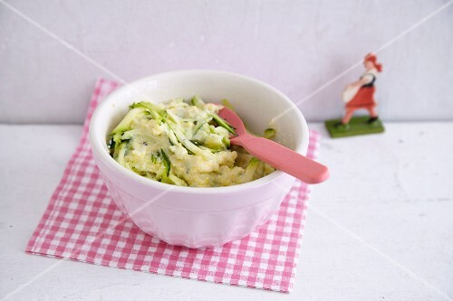 Vegetarian courgette polenta