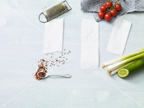 Shopping lists and fresh ingredients