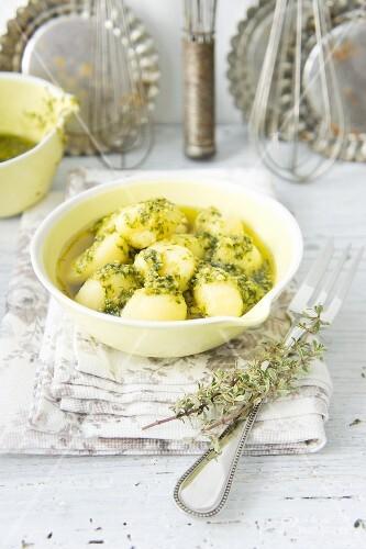 Gnocchi with spring pesto