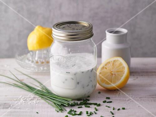 A jar of buttermilk dressing