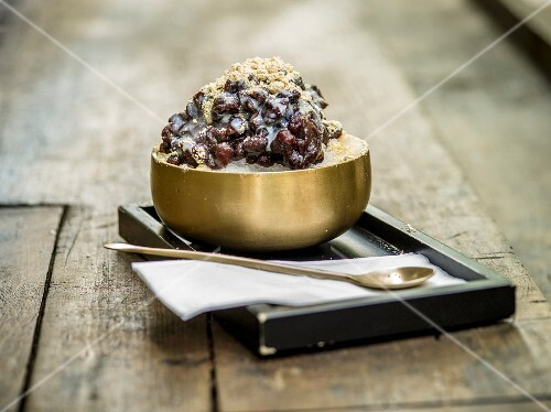 Patbingsu (ice cream dessert made from adzuki beans, Korea)