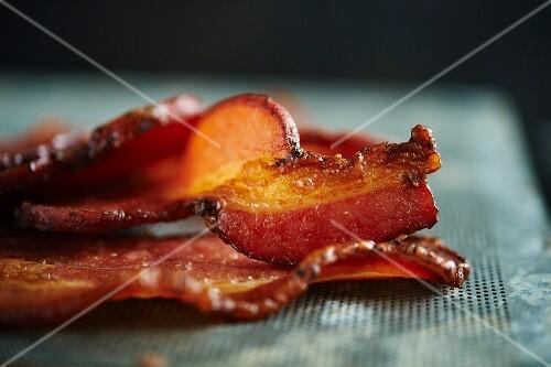 Fried rashers of bacon