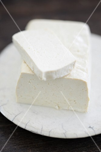 A plate of tofu