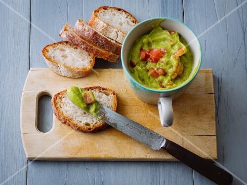 A vegan avocado dip