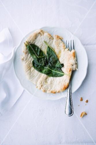 Saltimbocca di vitello (veal escalope with sage, Italy)