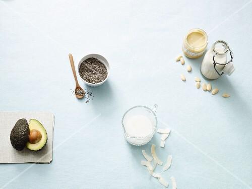 Ingredients for a quick Paleo diet breakfast