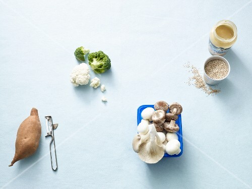 Ingredients for quick vegetarian dishes on the Paleo diet