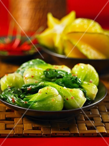 Bok choy with coconut and chilli (Asia)