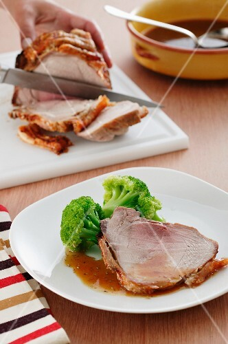 Sliced crispy roast beef