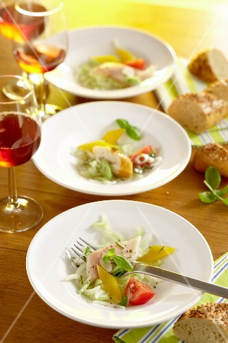 Smoked fish and celery salad