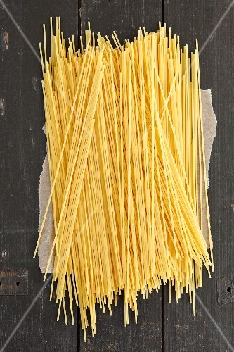 Spaghetti on a wooden table