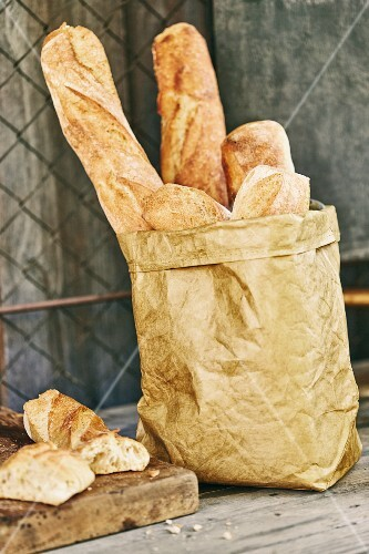 Fresh baguette for a garden party
