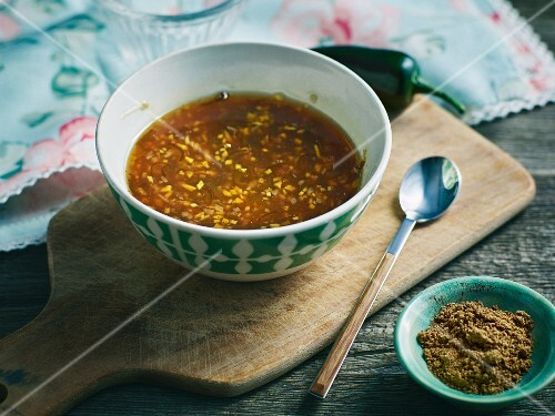 Sweet-and-sour chilli sauce with jalapeños