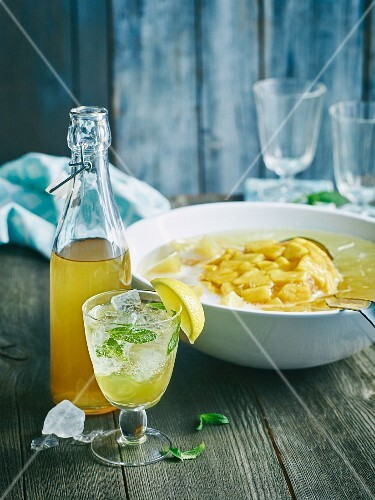 Elderflower syrup with Hugo and pineapple punch from Hawaii