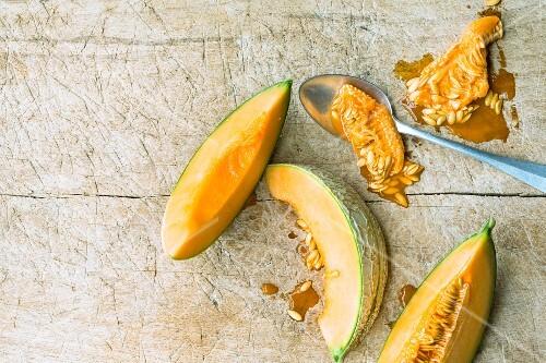 Deseeded honeydew melon wedges