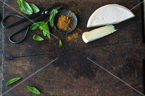 Rechblochon, ras el hanout and fresh mint