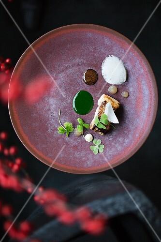Rosefish marinated and sautéed in yuzu by Chef Yoshizumi Nagaya, Restaurant 'Nagaya', Düsseldorf