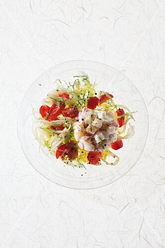 Seabream ceviche with fennel and mint