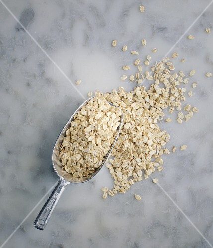 Wholemeal oats on a scoop