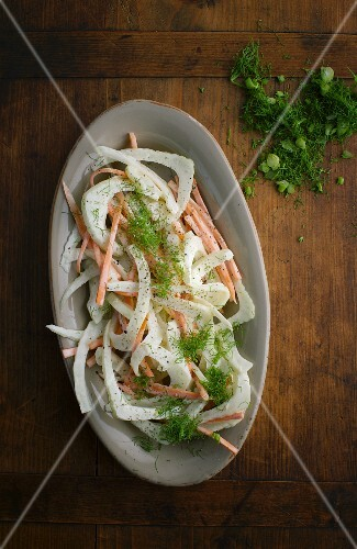 Fennel and carrot coleslaw
