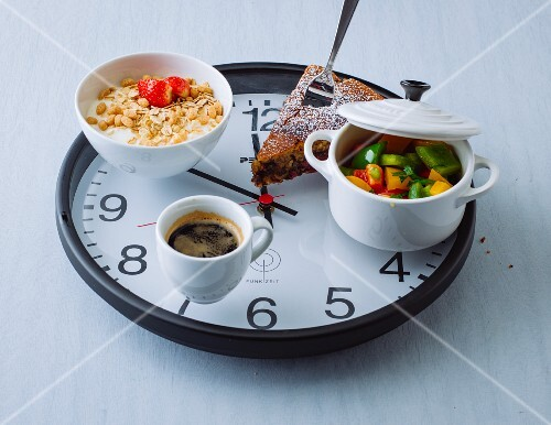 A picture of set meal times