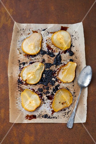 Caramelised pears