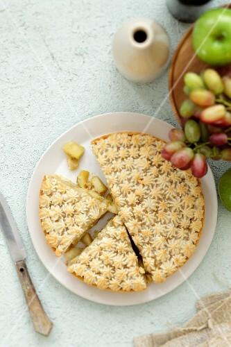 Apple and marzipan cake