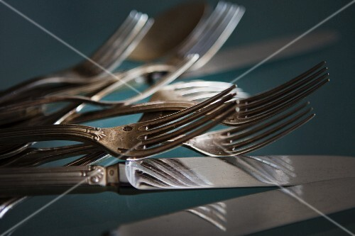 Antique knives and forks