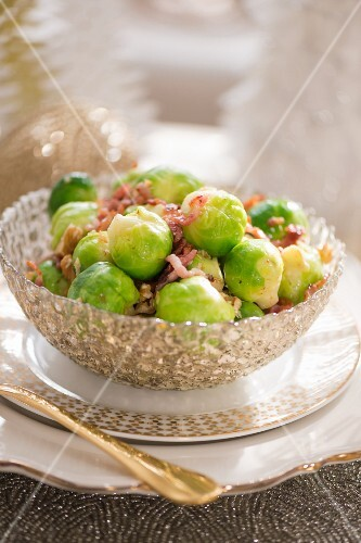 Brussel's sprouts with bacon for Christmas dinner